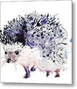 Hedgehog Metal Print by Krista Bros