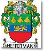 Hefferman Coat Of Arms Irish Metal Print