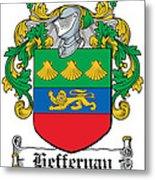 Heffernan Coat Of Arms Irish Metal Print