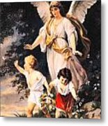 Heiliger Schutzengel  Guardian Angel 6 Pastel Metal Print