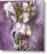 Heirloom Iris In Iris Vase Metal Print