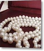 Heirloom Pearls Metal Print