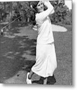 Helen Hicks Playing Golf Metal Print