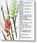 Heliconia Poem Metal Print