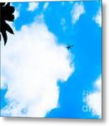 Helicopter Metal Print by Lisa Cortez