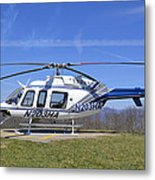 Helicopter On A Mountain Metal Print