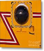 Helicopter Porthole Window Mirrors Rotor Blade Metal Print
