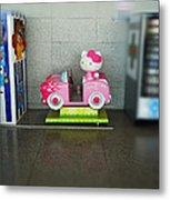 Hello Kitty Car Metal Print