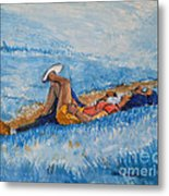 Hello Young Lovers In Blue Metal Print