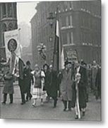 �help Hungary� Parade In Streets Of London Metal Print