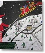 Help Santa's Stuck Metal Print