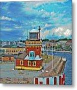 Helsingborg Lighthouse Hdr Metal Print