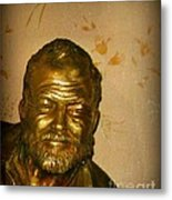 Hemmingway In Havana Metal Print by John Malone