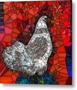 Hen Watch I Metal Print