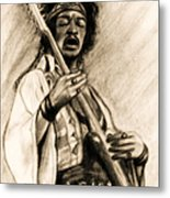 Hendrix-antique Tint Version Metal Print