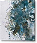 Hendrix Watercolor Abstract Metal Print