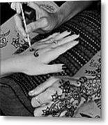Henna Artist At Play Metal Print