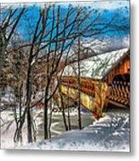 Henniker Bridge Metal Print