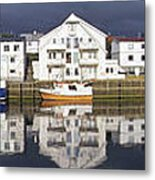 Henningsvaer Panoramic View Metal Print