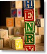 Henry - Alphabet Blocks Metal Print