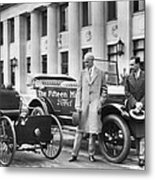 Henry And Edsel Ford Metal Print