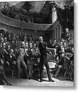 Henry Clay Speaking In The Senate Metal Print