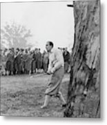 Henry Cotton Playing Golf Metal Print