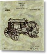 Henry Ford Tractor Patent Metal Print
