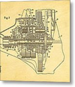 Henry Ford Transmission Mechanism Patent Art  2 1911 Metal Print