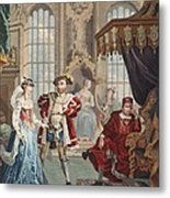 Henry Viii And Anne Boleyn Metal Print