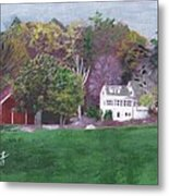 Henry Warren's Red Barn Metal Print