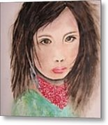 Her Expression Says It All Metal Print