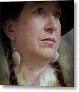 Her Hat And Fur Metal Print