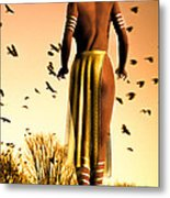 Her Morning Walk Metal Print