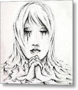 Her Prayers Metal Print