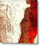 Her Red Silhouette Metal Print