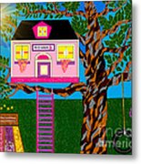 Her Tree House Metal Print