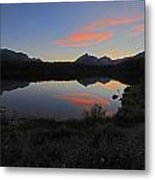 Herbert Lake Sunset Banff National Park Metal Print