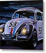Herbie The Love Bug Painting Metal Print