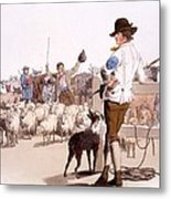Herdsmen Of Sheep And Cattle, From The Metal Print