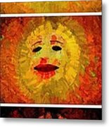 Here Come The Suns Vertical Metal Print