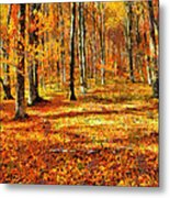 Here Comes Fall Metal Print