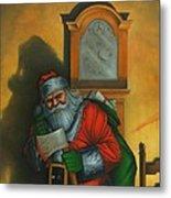 Here Comes Santa Claus Metal Print