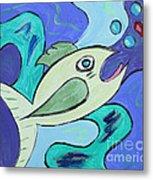 Here Fishy Fishy Metal Print