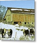 Hereford Barn Painting Metal Print
