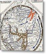 Hereford Mappa Mundi With Detail Upszed  Metal Print