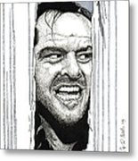 Here's Johnny Metal Print