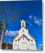 Heres The Church And The Steeple Metal Print