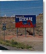 Here's Utah Metal Print