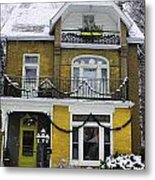 Heritage Home In Yellow Metal Print